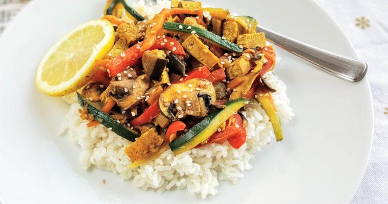 Légumes de printemps façon Pad Thaï