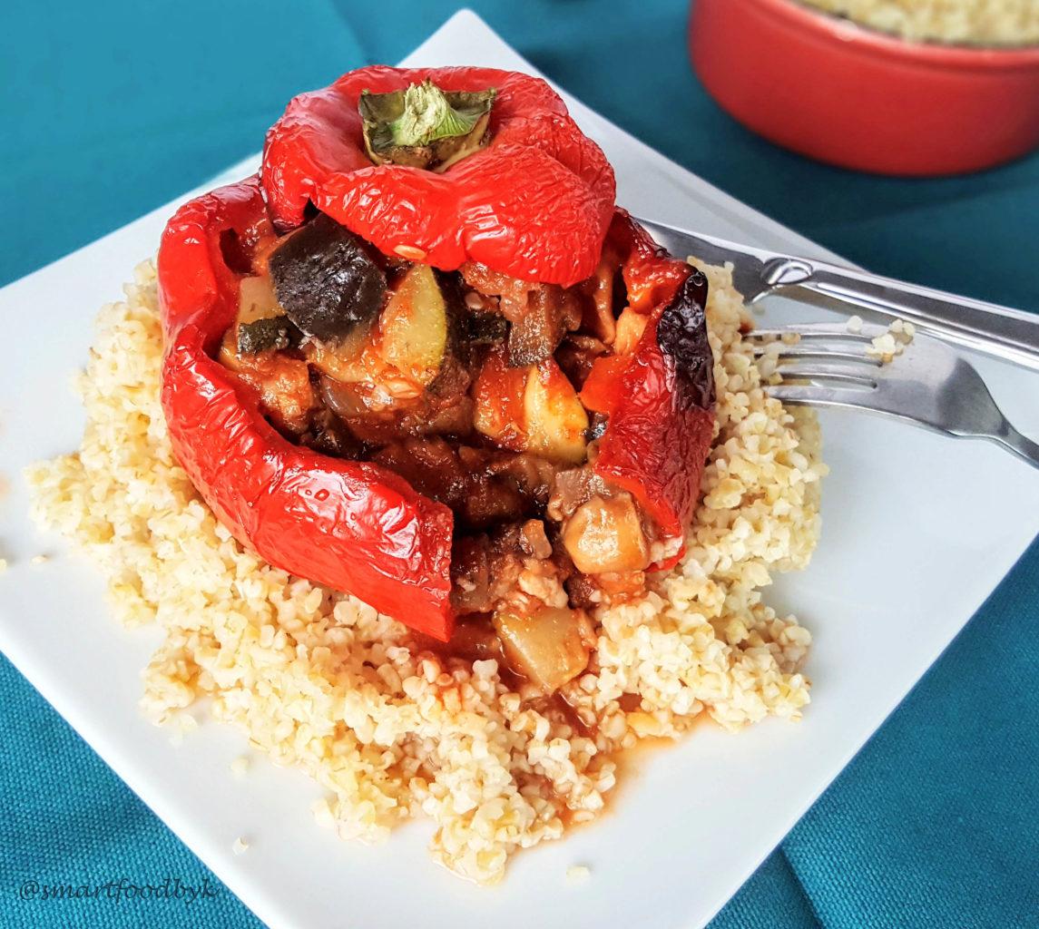 Mediterranean-style stuffed bell peppers
