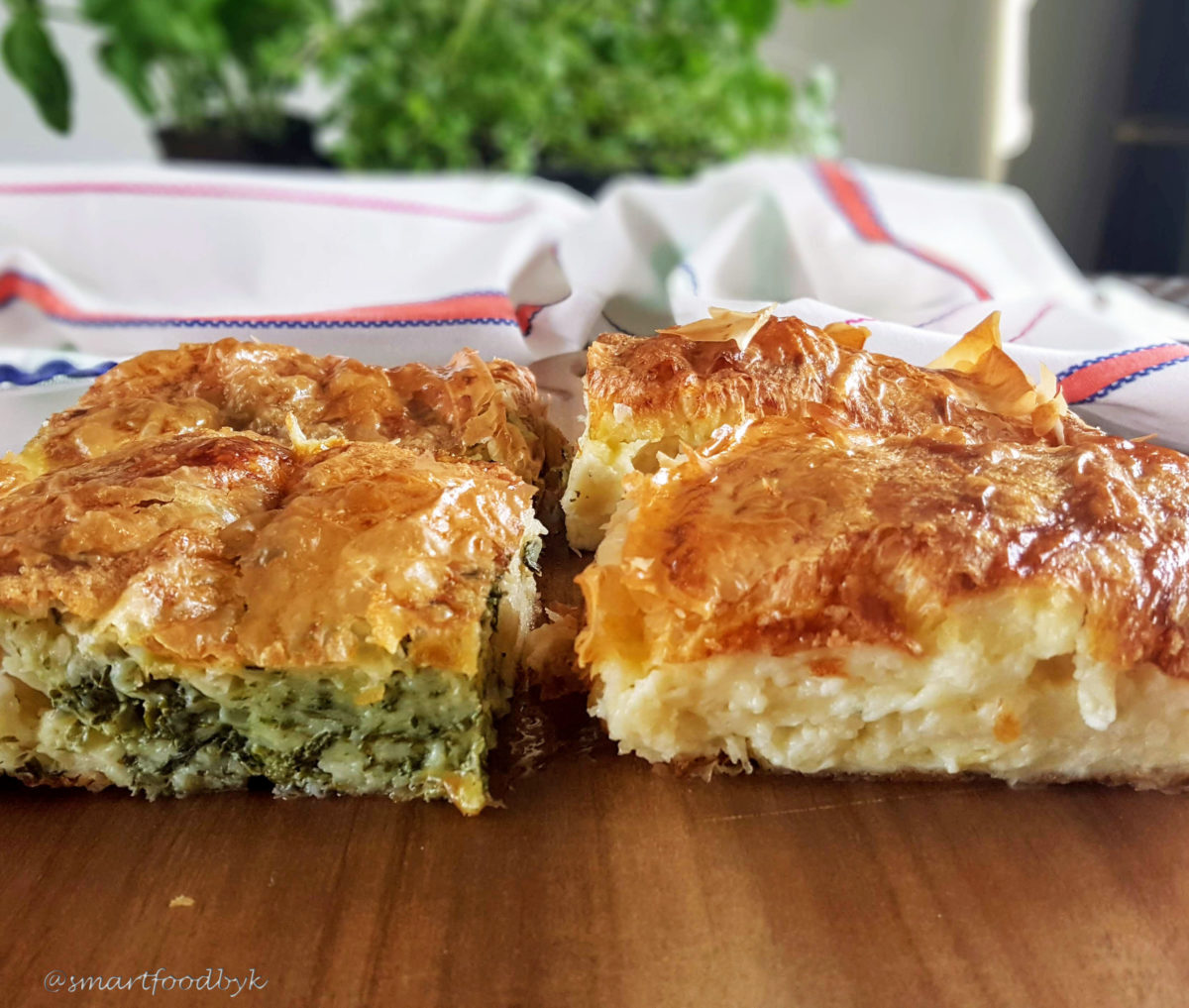 Savoury millefeuille with cheese and spinach - Gibanica - Smart Food