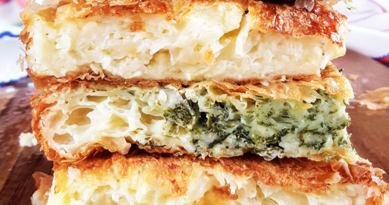 Savoury millefeuille with cheese and spinach – Gibanica