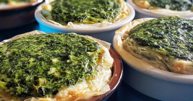 Tartelettes aux épinards et chèvre frais