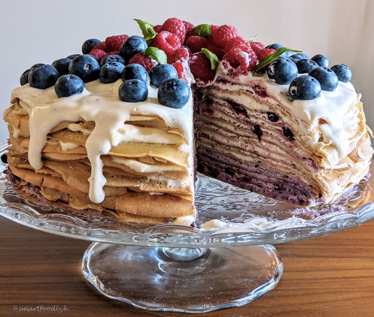 Spring berries crepe cake