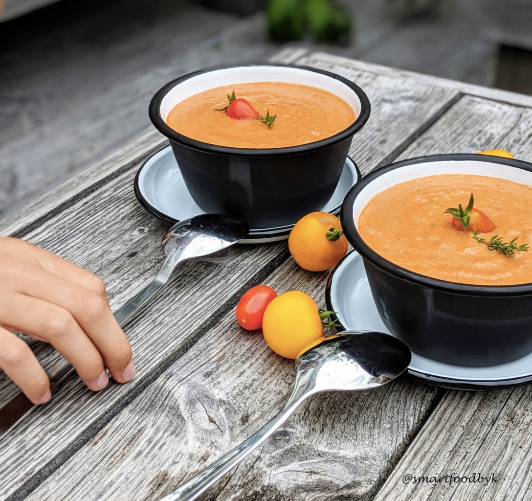Gazpacho, cool soup for hot days