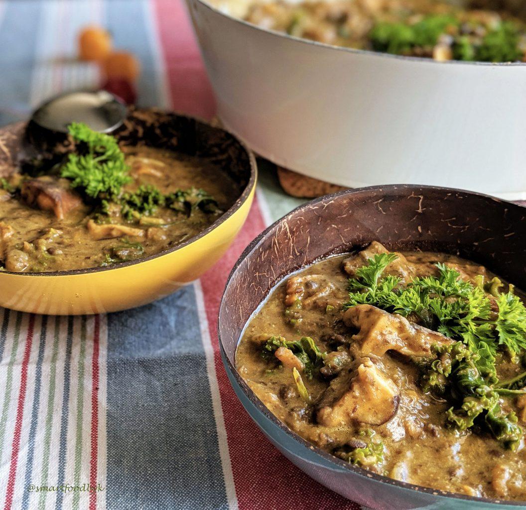 Ragoût veggie de lentilles, shiitake et chou kale
