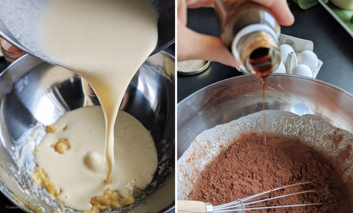 Oatmeal banana chocolate chip muffins - step 2. Muffins à la banane, pépites de choco et flocons d'avoine - étape 2.