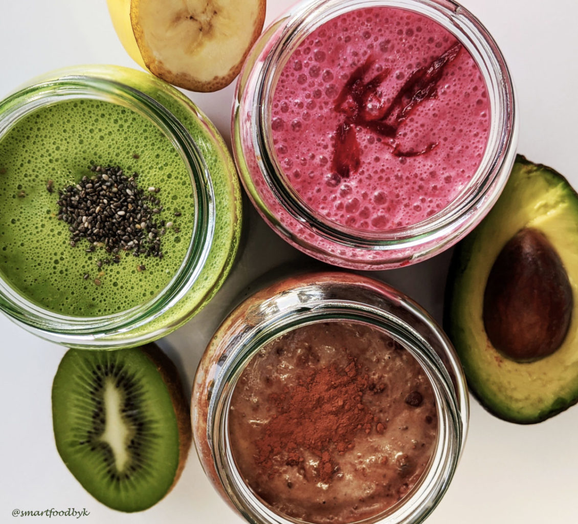 3 wholesome yummy breakfast smoothies