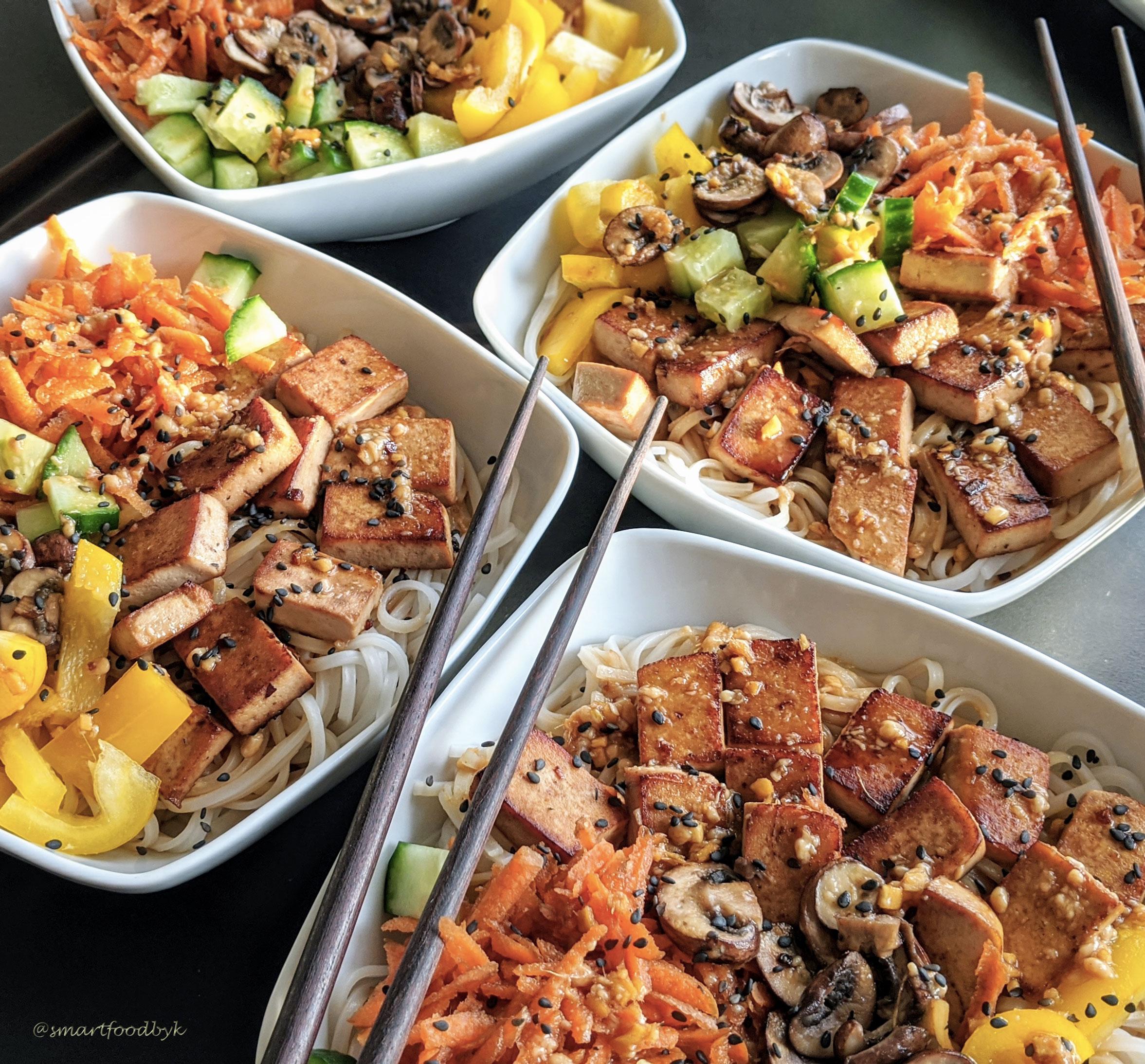 Nouilles de riz gourmandes avec la sauce qui change tout