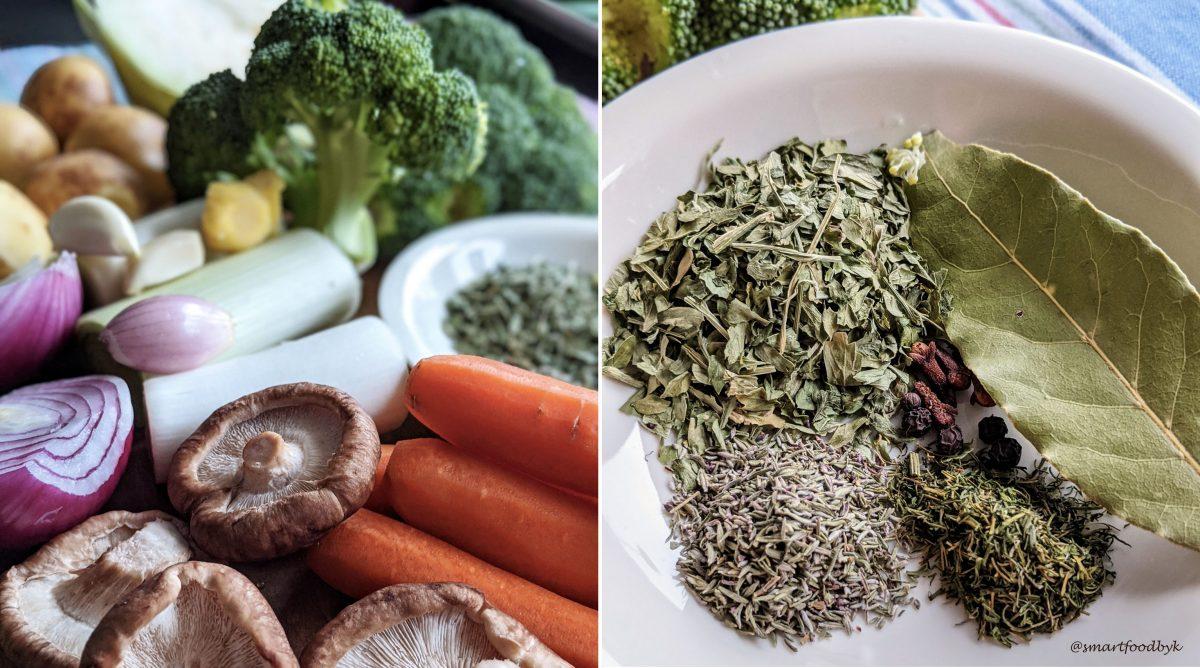 Veggies, herbs & spices. Légumes, herbes et épices.