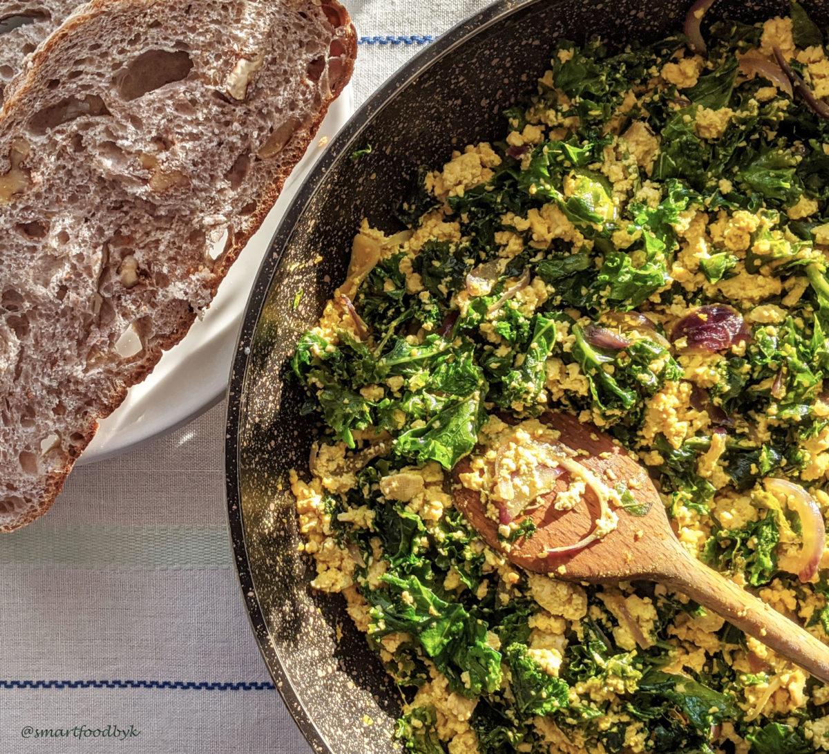 Toflette, my vegan tofu omelette