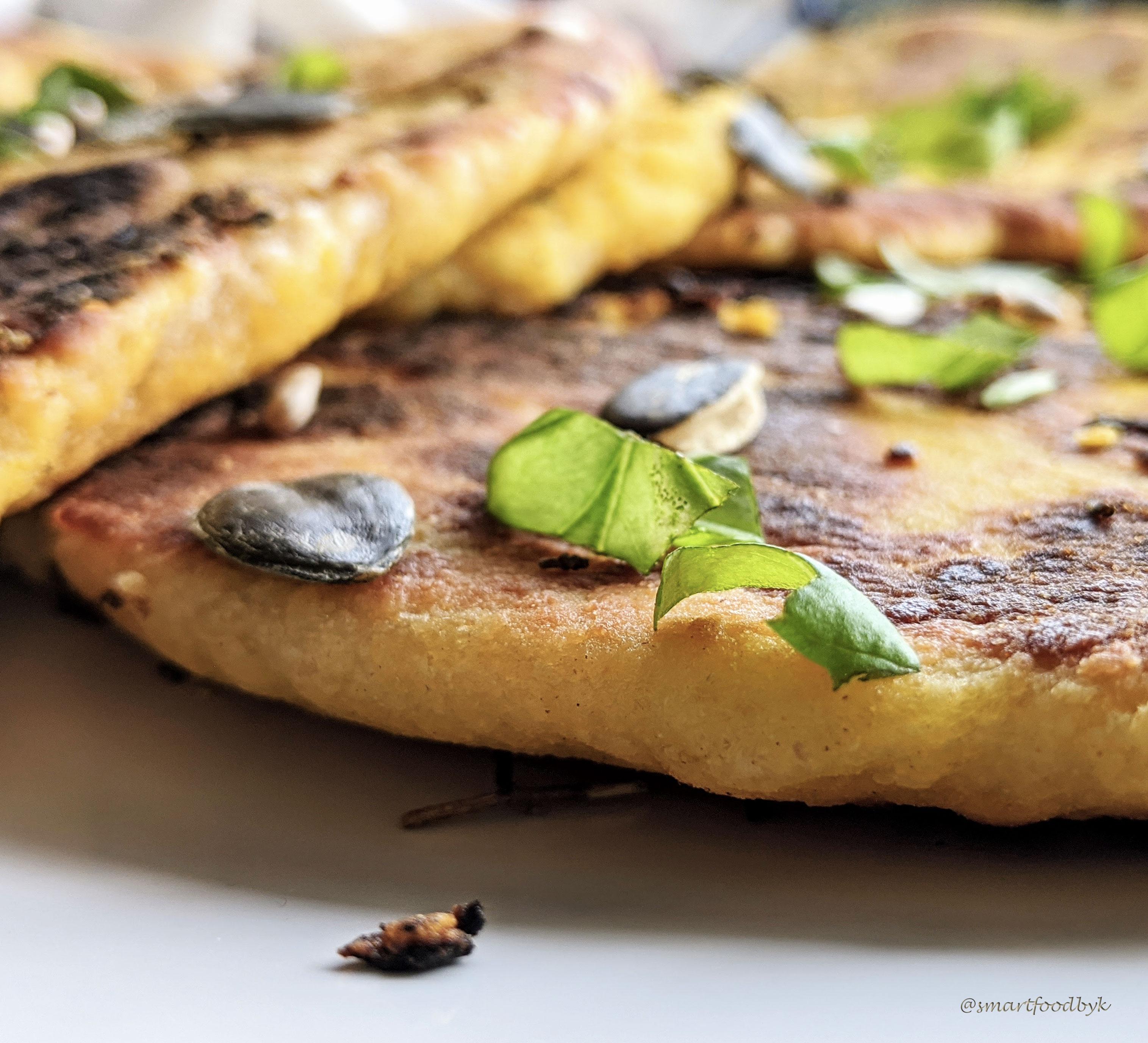 Naans à l'ail moelleux et délicieusement veggie