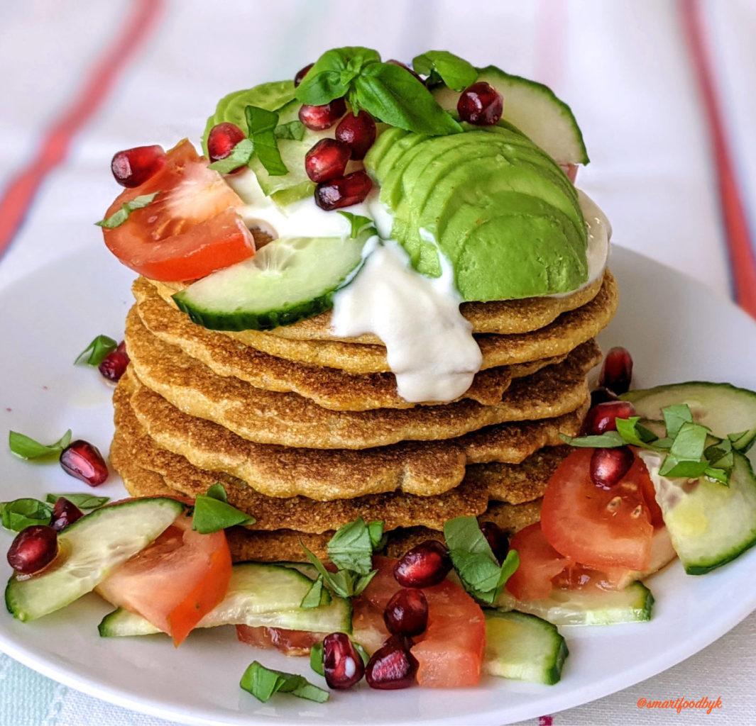 Savoury breakfast corn pancakes